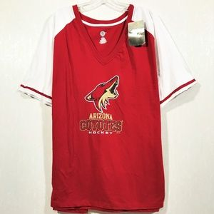 Arizona Coyotes NHL Womens 2X V-Neck Raglan Sleeve
